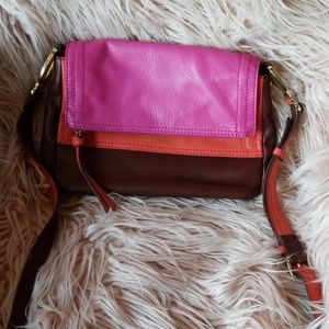 B.Makowsky leather multi color crossbody